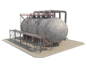 Industrial Silo 04 3D asset