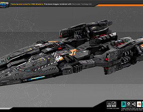 Federation Destroyer R6 3D asset