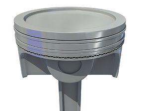Piston car 3D model