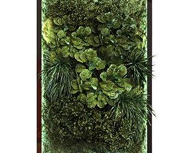 green wall set 053 3D asset