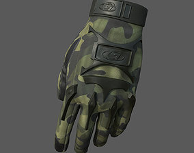 Gloves Scifi military combat 3d model low VR / AR ready 1