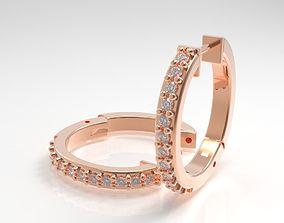 diamonds 3D printable model 2 pieces earring