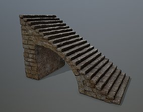3D asset VR / AR ready starcase stairs