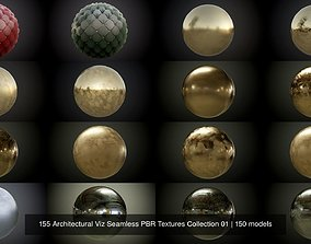 150 Architectural Viz Seamless PBR Textures 3D model 1