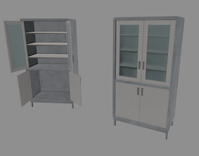 3D asset Medical Cabinet