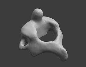 Axis C2 vertebra 3D print model