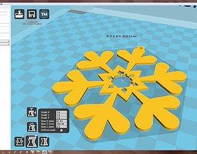 3D print model christma-ball Snowflake