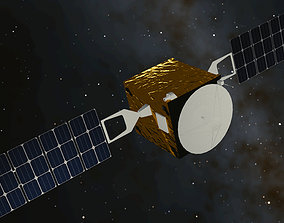 3D model of a satellite low-poly
