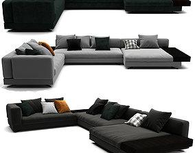 Minotti White Sofa Set 012 3D