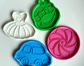 Cookie cutters set toys 3D print model