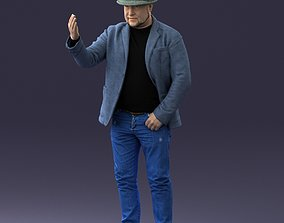 Man with hat 1213 3D figurine model