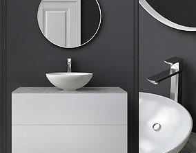 VR / AR ready Washbasins Furniture 3d model