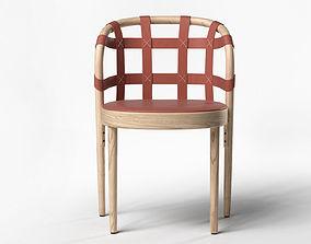 Woven Leather Armchair 3D