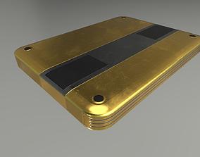 External Hard Drive Low Poly Gold Version - 3D model 2