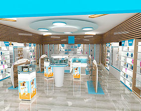 pharmacy interior design - form stand mediacly 3D model