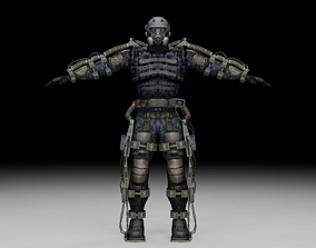 3D asset rigged Stalker - Mercenary 02