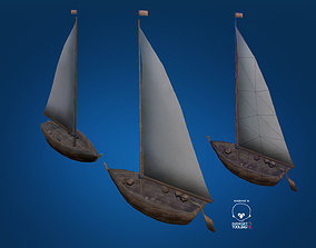 Fishing Boat Low Poly 3D model VR / AR ready