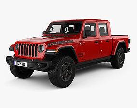 Jeep Gladiator Rubicon with HQ interior 2020 3D