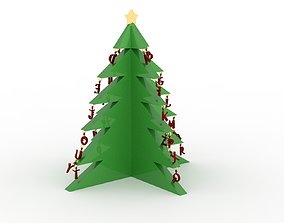 3D print model Alphabetical Christmas Tree with One Feet