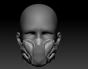 3D printable model Quarantine Cosplay Mask Black Panther