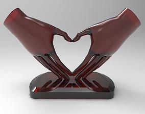 HeartHands Statue 3D print model