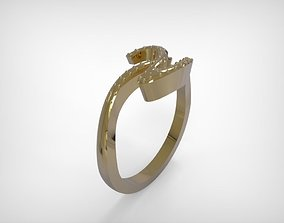 Jewelry Ring Golden Line On Top 3D print model