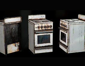 3D asset Rusted Stove