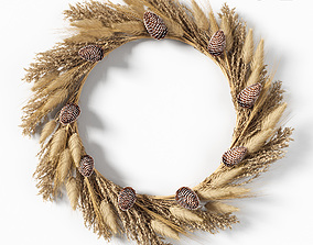 Dry grass wreath 3D