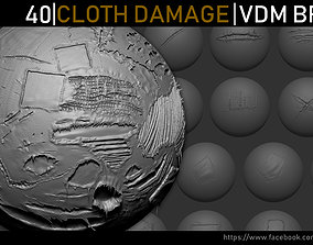 Zbrush - Cloth Damage VDM Brush 3D model