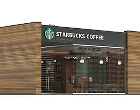 3D Starbucks coffee shop 3