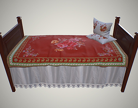 Old children bed 3D asset