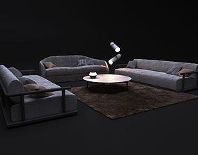 sofa ALFRED and sofa ICARO 3D
