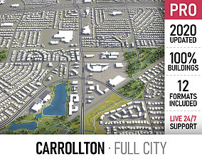 3D model Carrollton - Dallas - city and surroundings