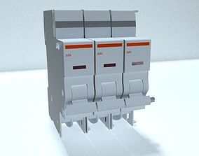 outlet 3D Circuit breaker