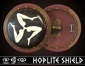 Hoplite Shield Triskelion 2 3D model
