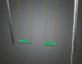 PAP - Swing Set - PBR Game Ready 3D model