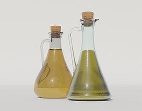 3D asset Olive oil and vinegar bottles