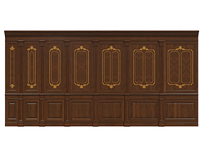 Wood panels 08 3D asset