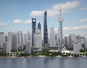 3D model Shanghai Tower Downtown