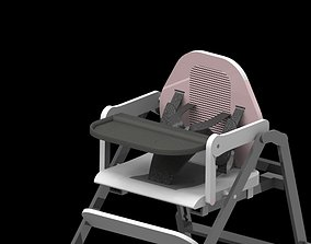 3D printable model baby chair closeup