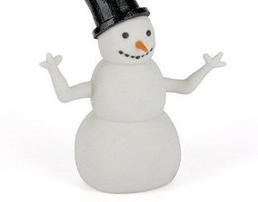 A snowman 3D print model