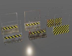 Concrete barriers concrete 3D model