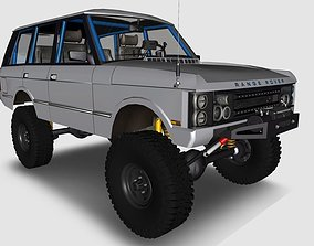 Land rover Range rover classic 4x4 off road rock 3D 1