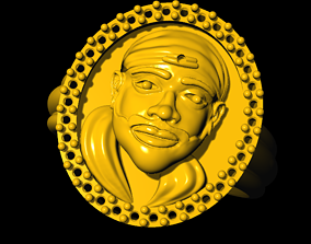 3D printable model Sai baba ring silver