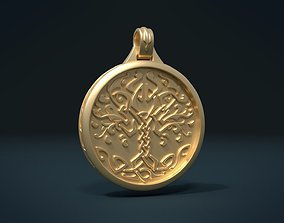 3D printable model ornament Tree Pendant