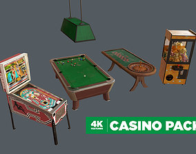 3D model 4K Low Poly Retro Casino Pack