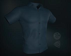 3D model Blue Summer Shirt