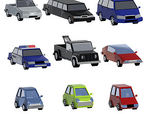 City cars set 3D asset