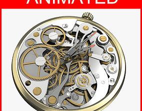 Watch Mechanism Animated 3D