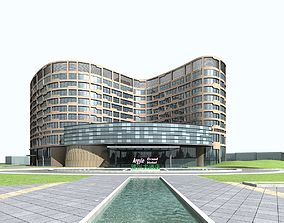 3D model high Hotel Building